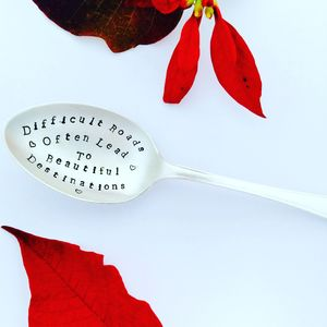 Personalised Silver Plated Inspirational Quote Spoon - cutlery