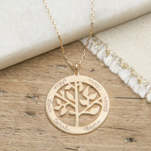 Personalised 'Tree Of Life' Necklace - 50th birthday gifts