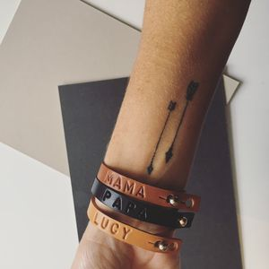 Personalised Leather Bracelet - bracelets