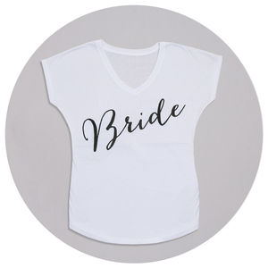 Personalised Bride T Shirt