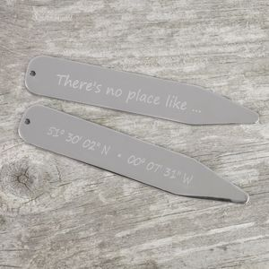 No Place Like … Co Ordinate Collar Stiffeners