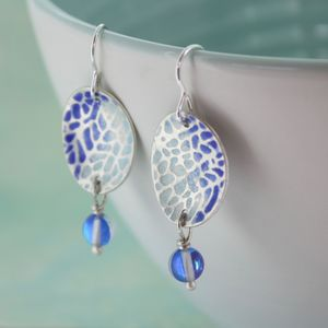 Handmade Enamelled Mermaid Earrings