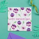 Pansies Mother's Day Card