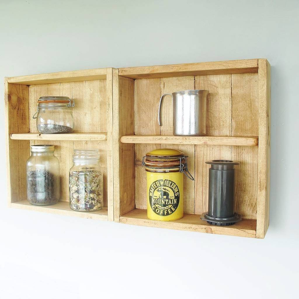 Wall Mounted Reclaimed Wood Shelf Unit By Seagirl And