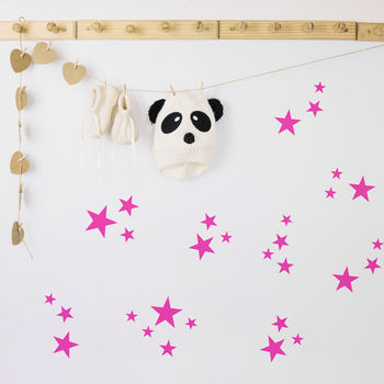 Neon Confetti Star Wall Stickers