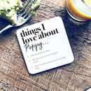 Personalised Things We Love About Our Friend Coaster