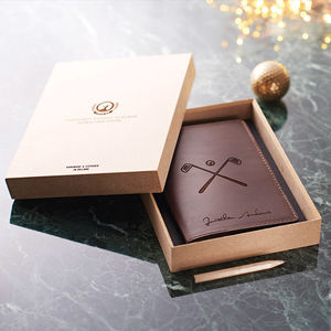 Personalised Leather Golf Scorecard Holder - christmas catalogue