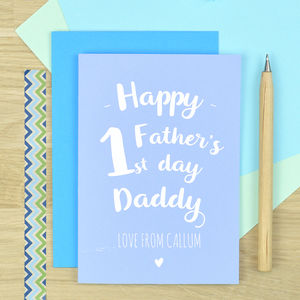 Personalised First Fathers Day Card - first father's day cards