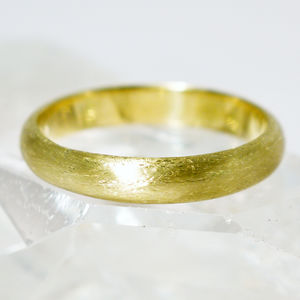 Irish And Recycled Etched D Profile 3mm Wedding Ring - rings