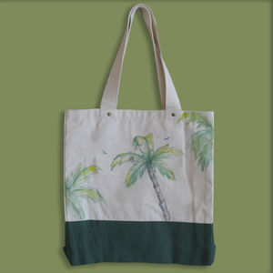 Handpainted Palm Trees On A Bag