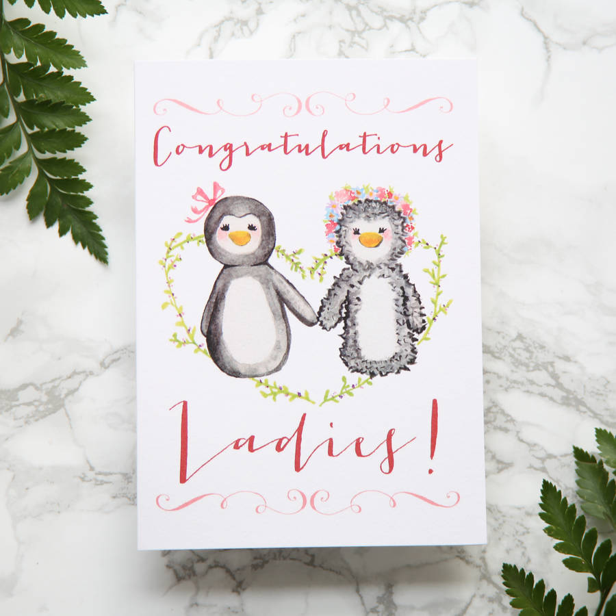 Congratulations Ladies Wedding Card
