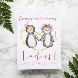 'Congratulations Ladies' Wedding Card - wedding cards & wrap