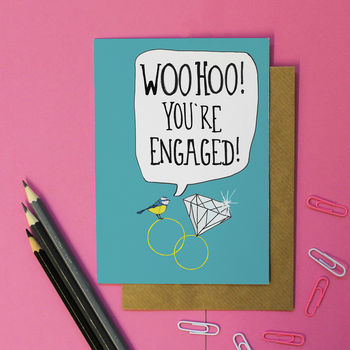 Cute Engagement Card