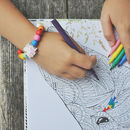 Personalised Unicorn And Rainbow Bracelet Making Kit