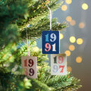 Personalised Significant Year Christmas Decoration