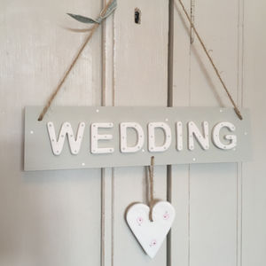 Wooden Wedding Sign - room decorations