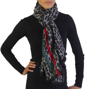 Leopard Print Winter Scarf - new in fashion