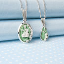 Two Designs Of Lily Of The Valley Pendant Necklace