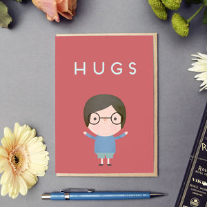 'Hugs' Card - sympathy & sorry cards