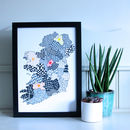 Personalised Map Of Ireland Print