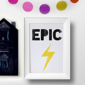 'Epic' Lightening Bolt Print
