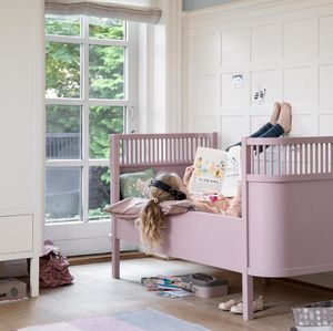 Vintage Rose Pink Baby And Junior Bed - furniture