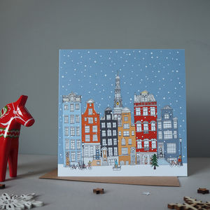 Amsterdam Christmas Cards Set Of Five