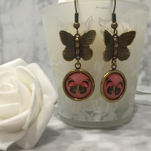 Vintage Style Butterfly Earrings - earrings