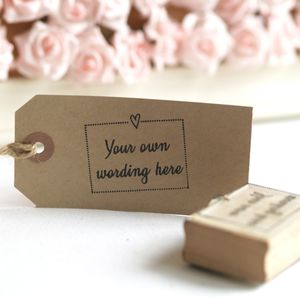 Framed 'Free Text' Rubber Stamp - wedding favours