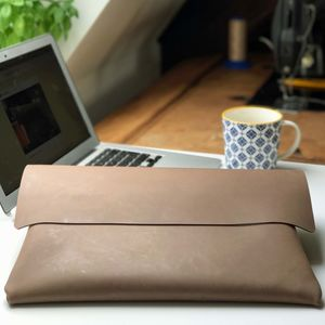 Leather Mac Book Case - laptop bags & cases