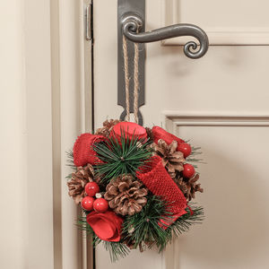 Red Rose Christmas Door Hanger - view all new