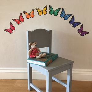 Rainbow Butterfly Wall Stickers - children's decorative accessories