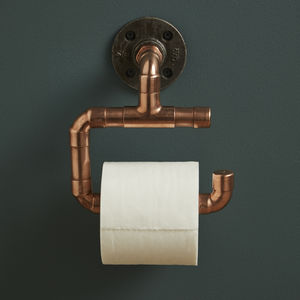 Copper Piping Toilet Roll Holder