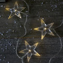 LED Battery Operated Clear Star Garland