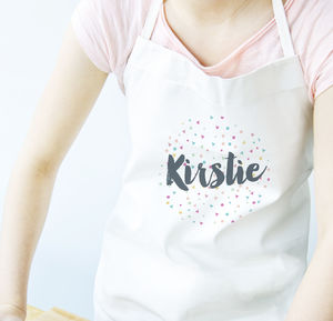 Personalised Confetti Name Apron - kitchen accessories