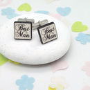 Best Man Confetti Wedding Cufflinks
