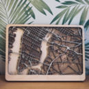 New York Multi Layer Wood Map. Customisable