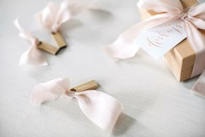 Blush Hand Dyed Silk Ribbon - sewing & knitting