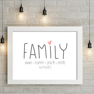 All About Family - new in prints & art