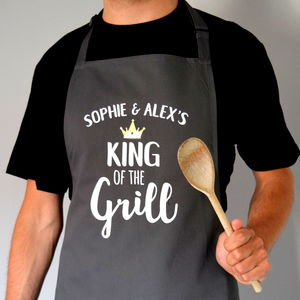 Personalised Daddy King Of The Grill Apron - new in home