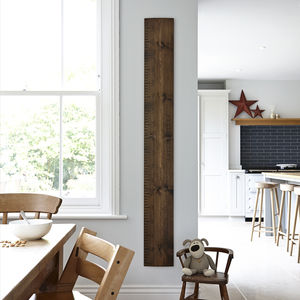 Personalised Wooden Ruler Height Chart In Aged Oak - personalised
