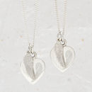 Personalised Sterling Silver Angel Wing Heart Necklace