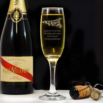 Vulcan Personalised Champagne Flute