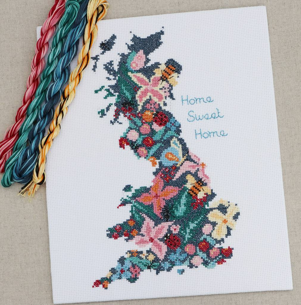 cross stitch kit home sweet home beautiful britain by