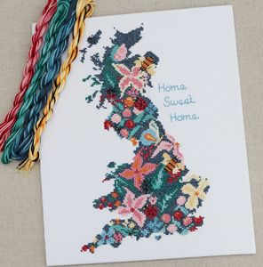 Cross Stitch Kit. Home Sweet Home, 'Beautiful Britain'