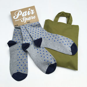 Stocking Filler 'Pair And A Spare' Set Of Three Socks