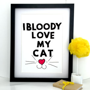 'Cat Love' Cat Lover's Gift - gifts for pet lovers