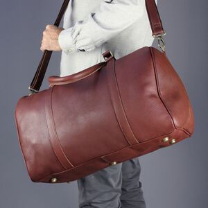 Personalised Leather Travel Holdall