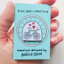 Bicycle Lover Enamel Pin Badge