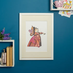 Red Queen Of Hearts Alice In Wonderland Print